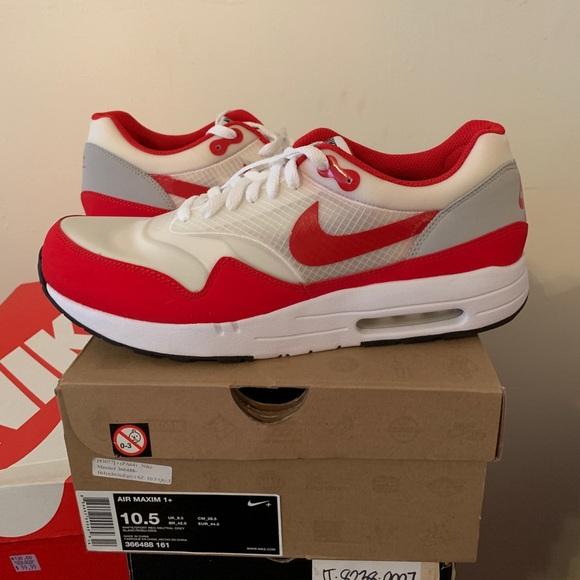 quality design 5a726 88980 New Nike air maxim 1 + size 10.5 og red white vtg